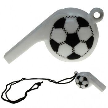 Trillerpfeife Fussball Design, mit Halsband, Fanartikel, Event, Party, usw
