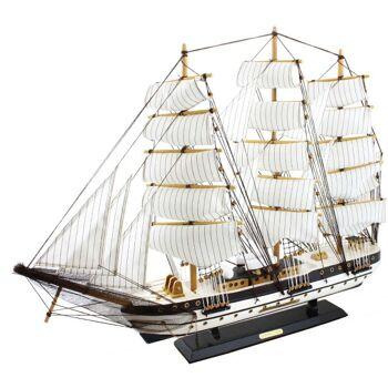 Deko XXL Segelschiffe aus Holz, 80cm Länge, verschiedene Modelle