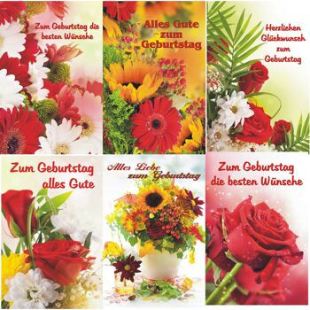 28-597709, Karten Geburtstag mit Blumen, Geburtstagskarte, Geschenkkarte, Glückwunschkarten