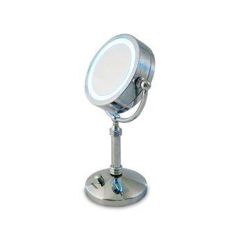 beper beleuchteter LED Kosmetikspiegel Retrooptik Schminkspiegel
