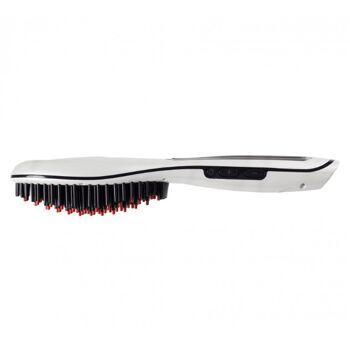 beper elektrische Haarbürste mit Haarglätt-Funktion Haarpflege kämmen bürsten glätten
