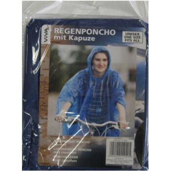 12-214929, Regenponcho schwere Qualität, mit Kaputze, Notfall Regenjacke, Outdoor, Trakking, Reise, Regenschutz, usw