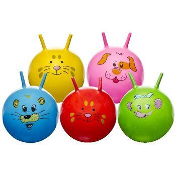 27-46070, Kinderhüpfball 46 cm, mit Tiergesichtern, Kinder Hüpfball, Springball++++++