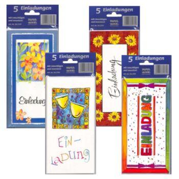 12-802702, Einladungskarten 5er Pack