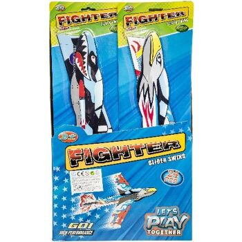 21-4237, FIGHTER GLIDER 52 X 16 CM Styropor Vögel