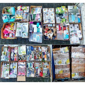 A -WARE Mix Paletten mit verschiedenen Artikeln z.B. Deko Schreibwaren Werkzeuge Küchenkleingeräte Textilien Heimtextilien...