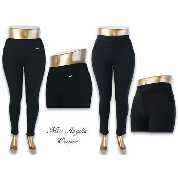 Damen Übergröße Bodyshaping Hose Stretch Jeggings Treggings Skinny Hoher Bund Mix - 6,90 Euro