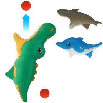 10-544200, Seetiere Fangbecher 23 cm, Fangspiel, Meerestiere, Zootiere, Fangballspiel