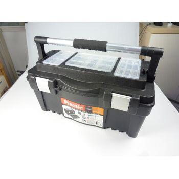 12-13596, hochwertiger Werkzeugkoffer Metallgriff mit Softgriffstück, Werkzeugkasten Sortimentskasten Werkzeugkiste Werkzeugbox