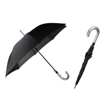 12-611878, hochwertiger Regenschirm Business Look 100 cm, Stockschirm