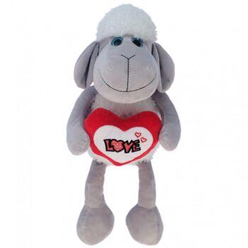 10-110410, Liebes Plüsch Schaf 40 cm, mit Herz LOVE, Plüschschaf, Kuscheltier, Spieltier