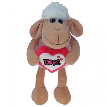 10-110440, Liebes Plüsch Schaf 65 cm, mit Herz LOVE, Plüschschaf, Kuscheltier, Spieltier