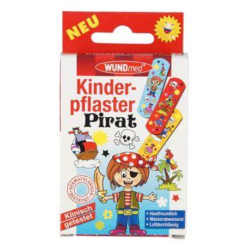 28-622642, Kinder Pflaster Kinder Pirat, 10er Pack, hautfreundlich, wasserabweisend, luftdurchlässig, klinisch gestest