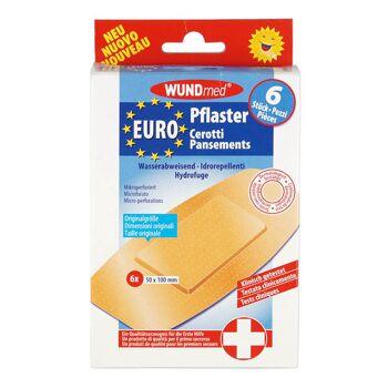28-626596, Wundpflaster 6er Pack, wasserabweisend, luftdurchlässig, Wundauflage mit Vliesstoffgaze, klinisch getestet