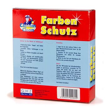 28-944845, Farbschutztuch 20er Pack, Captain Clean, Farbenschutz für alle Textilien und Temperaturen geeignet