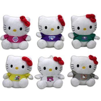 27-25657, Hello Kitty Plüschfigur 15 cm, mit T-Shirt