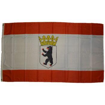Flagge  Berlin Bär mit Krone  90 x 150 cm