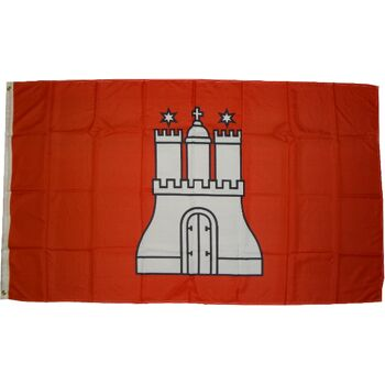 Flagge  Hamburg  90 x 150 cm