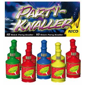 Party Popper, 10er Btl. f. Party, Feuerwerk Geburtstag Knaller, Silvester Feuerwerk