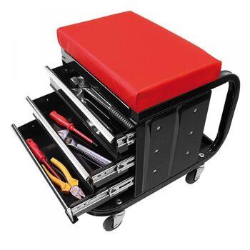 Werkstattwagen Werkzeugkiste rollbar Hocker Sitz Werkzeugwagen Stuhl Rollwagen