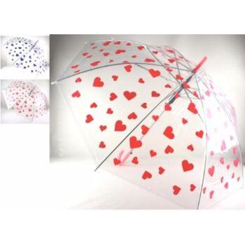 27-45865, Automatik Regenschirm mit Herzdesign 85 cm, Stockschirm