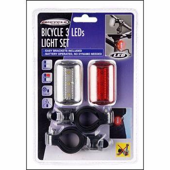 28-726083, Lampenset, 2er Pack mit Clip, Lichtset ideal für Fahrrad, Roller, Scooter, Kleidung, Rucksack oder ähnlich, mit Halterungen