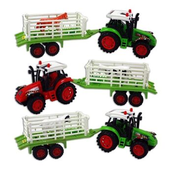 27-46971, Farmer Traktor mit Antrieb 33 cm mit Anhänger und Tier