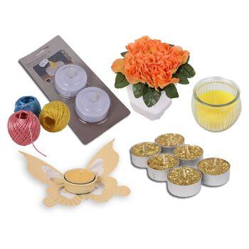 Mix Posten Blumen LED Kerze Teelichthalter Teelicht Deko Steine uvm. Neuware 1A nur 0,29 Euro