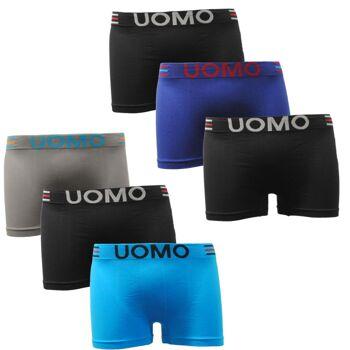 Garcia Pescara Herren Uomo Boxershorts Seamless S22 6er Pack Größe M/L