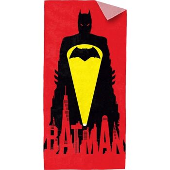 27-50003, Batman vs. Superman Strandtuch 150x75cm 'Batman - Bat Signal' Duschtuch, Badetuch