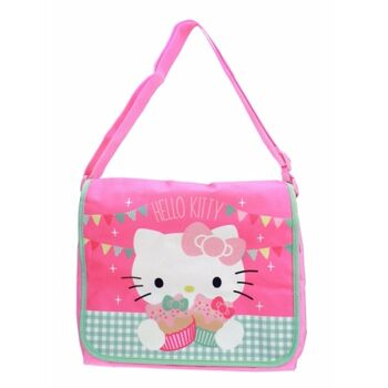 27-48760, Hello Kitty Tea Party Umhängetasche mit Glitzer 30 x 28 cm, perfekt für Kindergarten, Vorschule, Grundschule