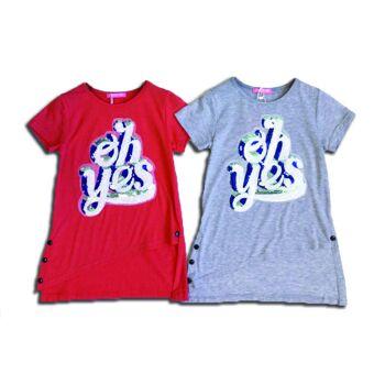 Kinder Pailletten T-Shirt Shirts Oberteil Kindershirts Modische Sommer T-Shirts - 5,49 Euro