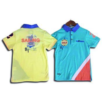 Kinder T-Shirt Kurzarm Poloshirt Shirts Polo Oberteil Kindershirts Sommer T-Shirts - 7,19 Euro