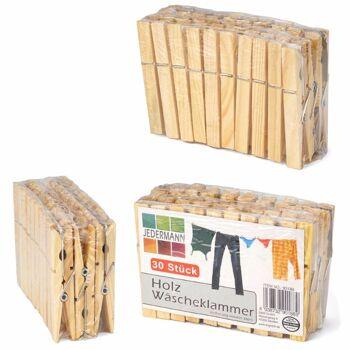 28-901889; Holz Wäscheklammern 30er Pack