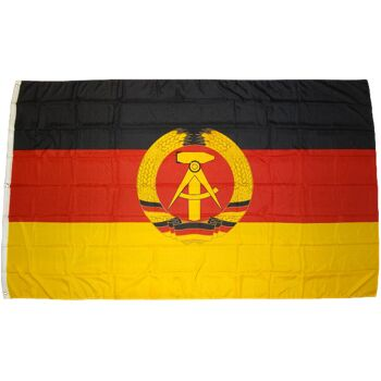 XXL Flagge DDR 250 x 150 cm mit 3 Messingösen 100 g/m² Fahne Sturmfahne Sturmflagge