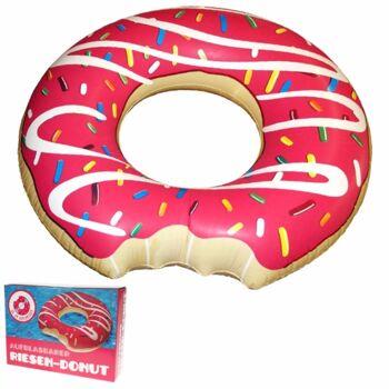 10-583330, Schwimmring Riesen Donut 120 cm Durchmesser, Schwimmhilfe, Badespass, Ideal für Strand und Pool