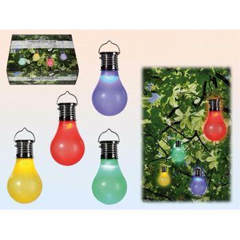 12-260065, LED Glühbirne mit Solarzelle, Partylicht, Partylampe, Gartenlicht, Gartenlampe, usw