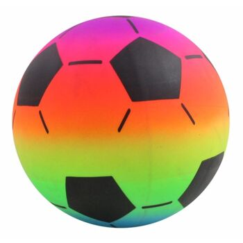 27-44452, Beach Ball 22 cm, Fussball Design, Strandball, WAsserball, Spielball