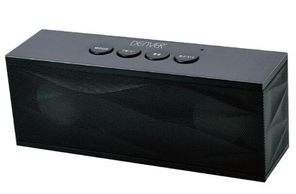 Denver BTS-61 Black 2 x 3W MK2 Bluetooth Lautsprecher Soundbox