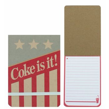 27-44490, COKE AMERICANA Coca Cola Notizblock 50 Blatt