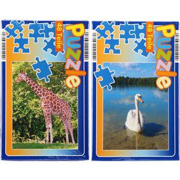 28-02544, Puzzle 48 Teile, 21 x 28 cm, Tiere, Kinderpuzzle
