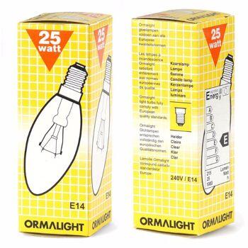 28-126723, Glühlampe 25 W, Kerze, klar, Fassung E14