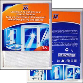 12-109542, Mikrofasertuch 30 x 40 cm, für Glas- & Chrom-Oberflächen, Putztuch, Reinigungstuch, Haushalt, Küche, Hobby, Garten, usw