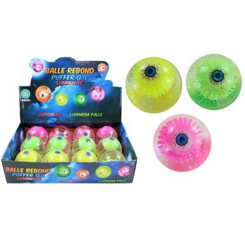 27-83236, LED Leuchtball Auge 6,5 cm, Springball, Flummi, blinkend