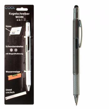 10-985680, Drehkugelschreiber mit 6 Funktionen, Flexible Silikon Soft-Spitze