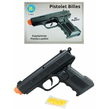 27-60379, Softair Pistole 17 cm, mit Magazin, Kugel Pistole+++++