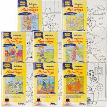 28-620349, Keilrahmen mit Malvorlage, Kindermotive zum Ausmalen