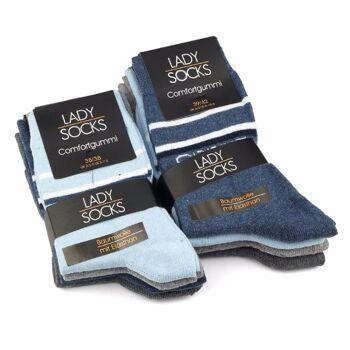 28-626353, Damen Socke 4er Pack, Gr. 35/38 -39/42, Damensocken, Damenstrümpfe