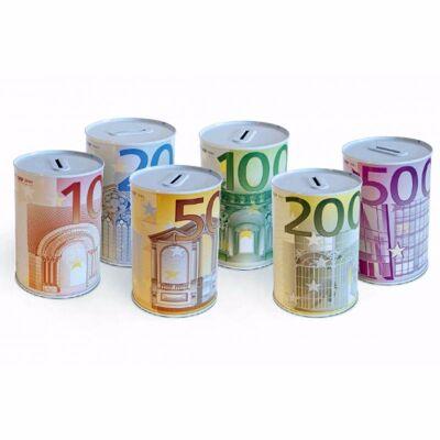 28-670183, Metall Spardose Euro Geldschein 15 cm, Eurogeldschein, Euronote
