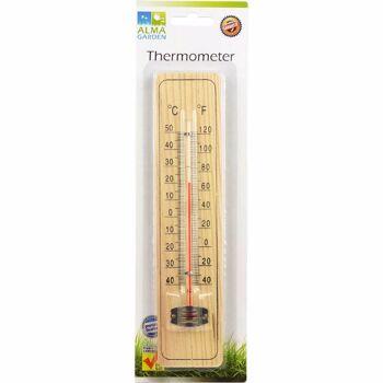 28-758162, Holz Thermometer 22 cm, für Innen und Aussen